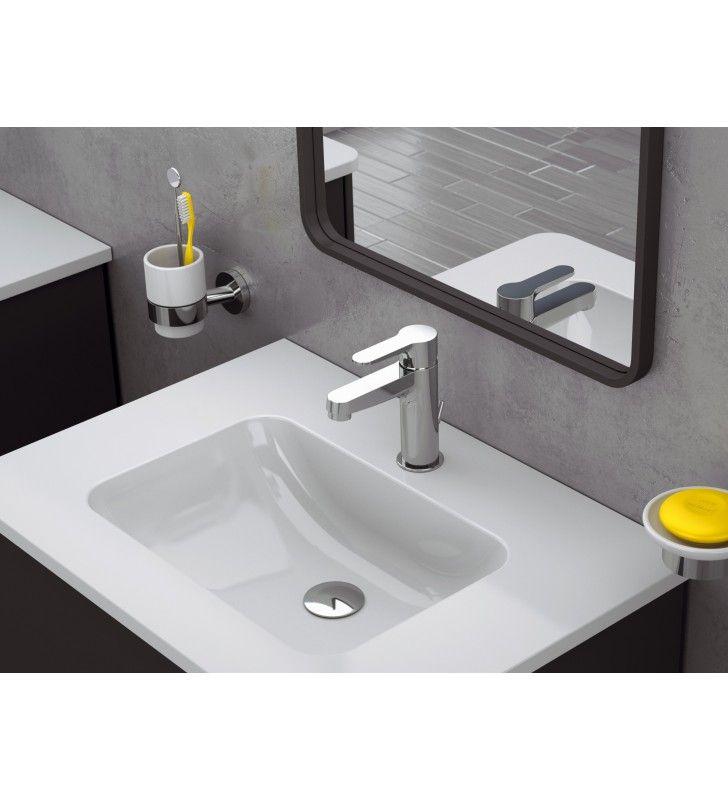 Miscelatore lavabo a risparmio energetico e idrico winner Remer WE1XLT8