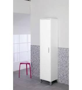 Colonna bagno armadio 40x35x180cm laccato bianco Feridras 527058