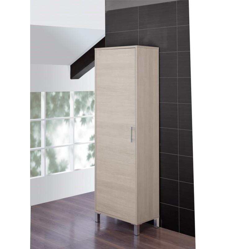 Colonna armadio 60x35x170cm rovere chiaro idroclic for Armadio x bagno