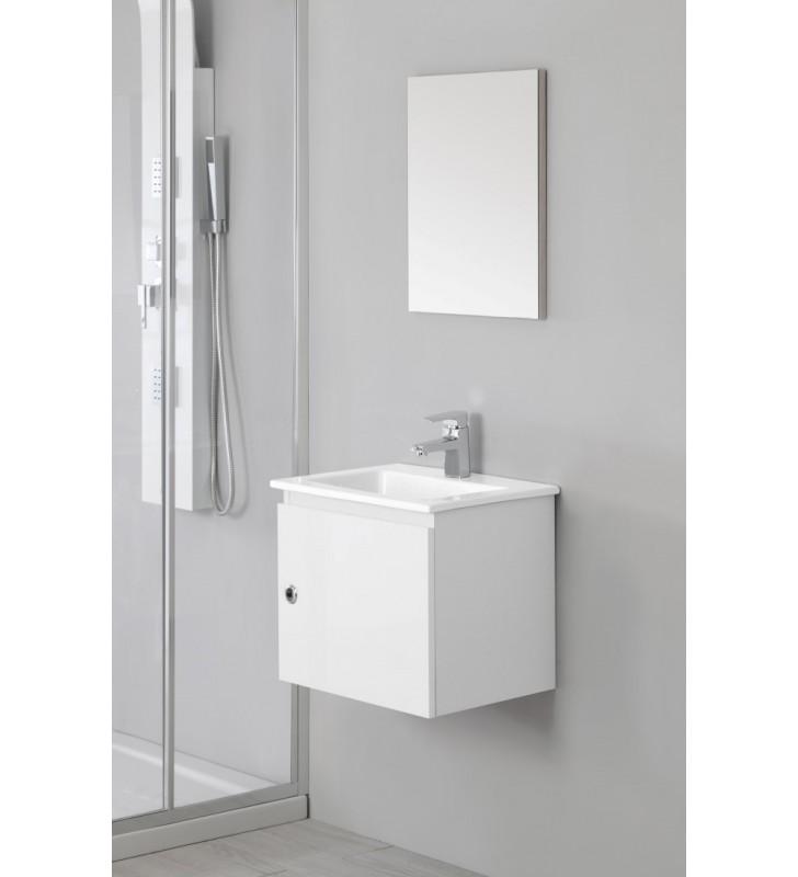 Mobile bagno 50cm laccato bianco - si 50