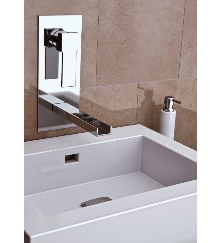 Miscelatore monocomando ad incasso per lavabo con piastra verticale ...