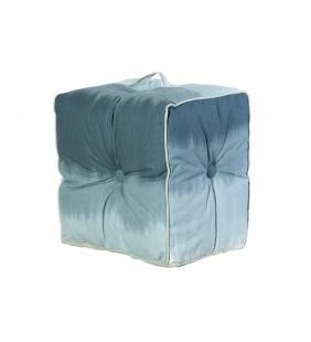 Pouf lipari in cotone grigio chiaro 40x40x30 Juteco POUF19GRI