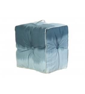 Pouf lipari in cotone grigio chiaro 40x40x30