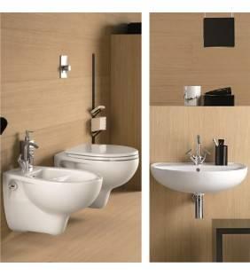 Set sanitari sospesi con lavabo serie colibri 2 idrobric Idrobric setcolibri2sospeso