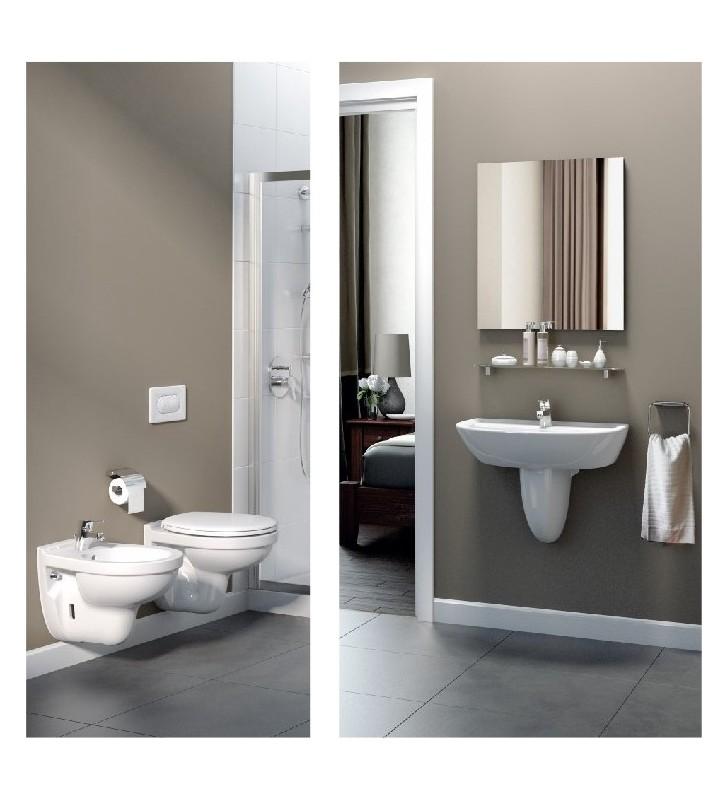 Set sanitari sospesi con lavabo ideal standard quarzo palio for Sanitari ideal standard