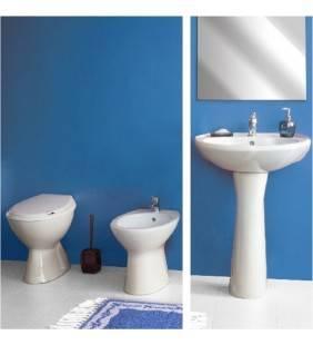 Set sanitari a terra idro con lavabo 45cm Idrobric setidro