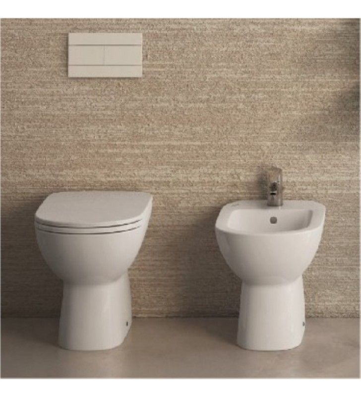 Bidet e vaso wc a terra gemma 2 ceramica dolomite - Sanitari bagno dolomite ...
