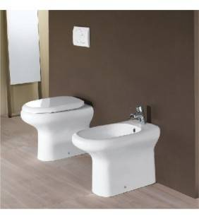 Set sanitari filo muro vaso wc e bidet touring Rak Ceramics setwcbidetouringfilomuro