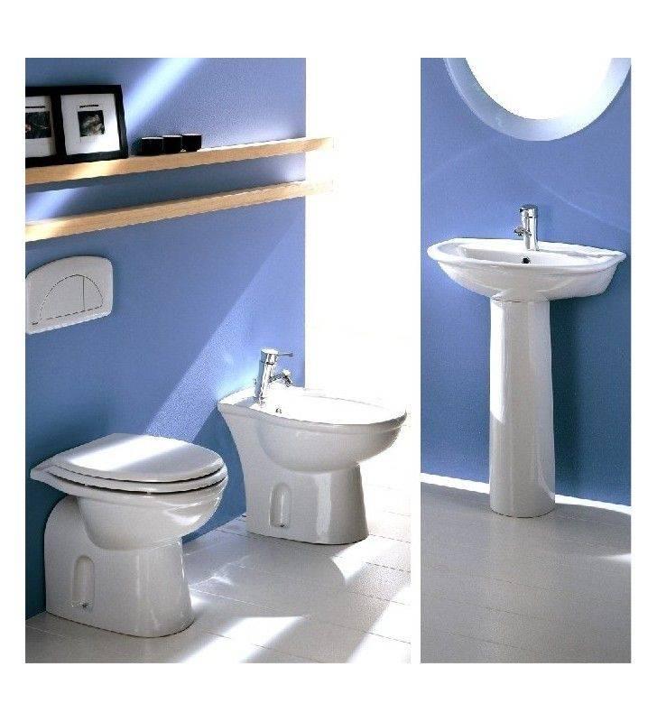 Set completo sanitari tradizionali con lavabo serie fiore - Sanitari bagno tradizionali ...