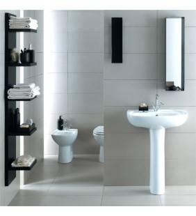 Set completo sanitari a terra con lavabo serie colibri 2 Idrobric setcolibri2