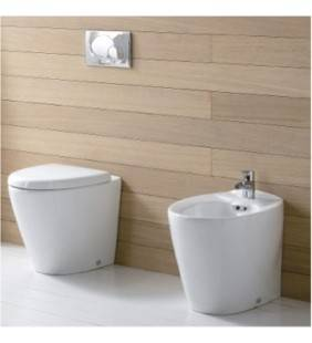Bidet e vaso wc a terra serie venice rak ceramics Rak Ceramics setwcbidetvenice