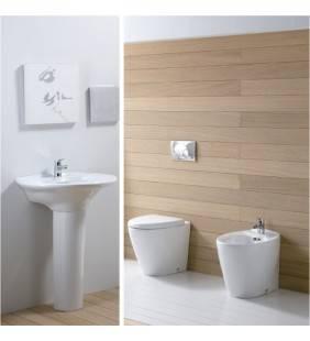 Set sanitari a terra con lavabo serie venice marchiato rak Rak Ceramics setvenice