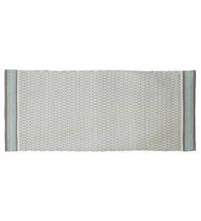 Tappeto ape grigio chiaro con bordino azzurro 60x140 Juteco APEGRI60X140
