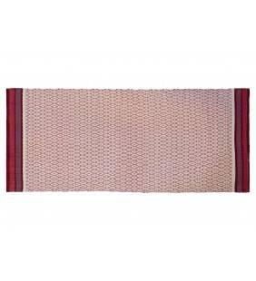 Tappeto ape con ricami bianchi e rossi 60x90 Juteco APEROS60X90