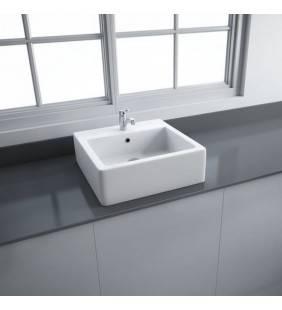 Lavabo da appogio quadrato in ceramica patrizia square sink rak