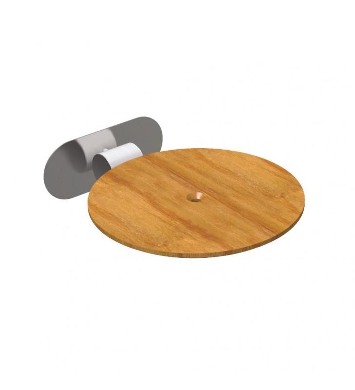 Sedile ribaltabile doccia color legno per bagni disabili e terza eta giotto Goman GIO-X819L/30