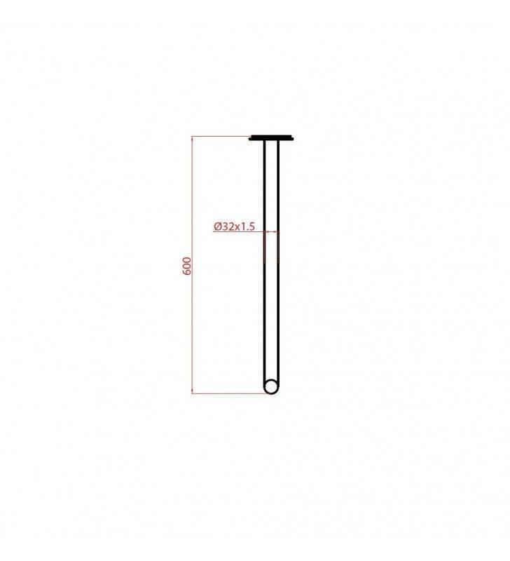 Maniglia 60 cm bagno disabili terza eta giotto inox bianco opaco Goman GIO-XB60/30