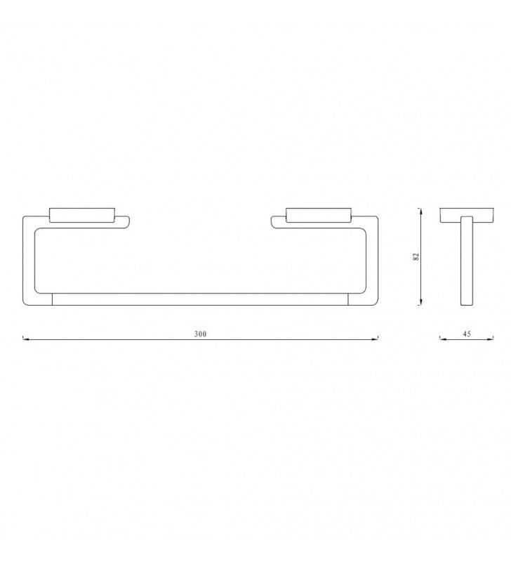 Porta salviette serie cubo a muro 30 cm - fissaggio ad incollo o con viti Aquasanit A20190ACR