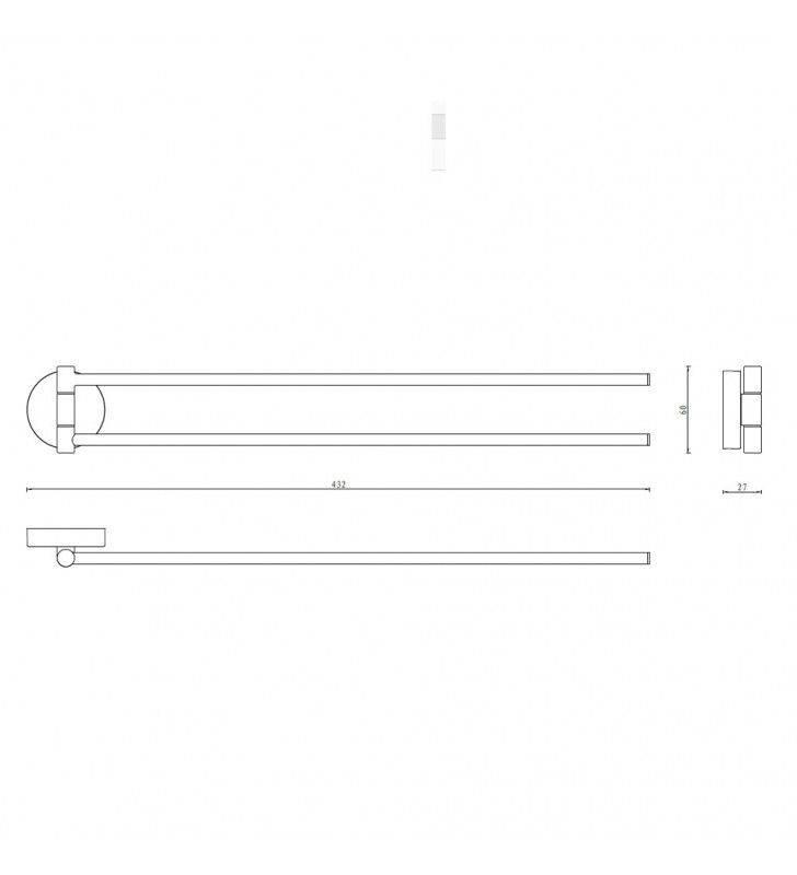 Porta salviette serie wire a snodo - fissaggio ad incollo o con viti Aquasanit A200150CR