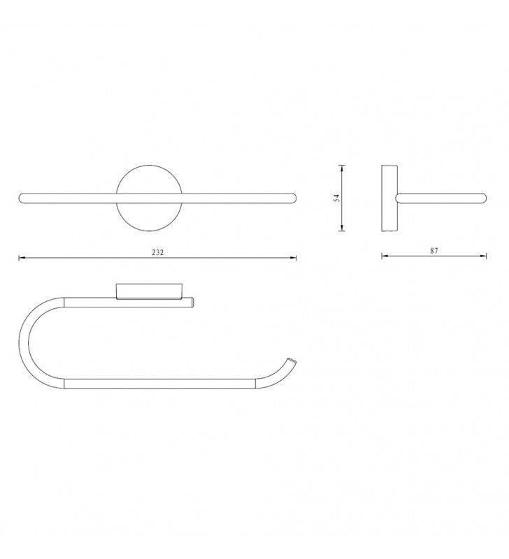 Porta salviette serie wire 20 cm ideale per bidet - fissaggio ad incollo o con viti Aquasanit A20089XCR