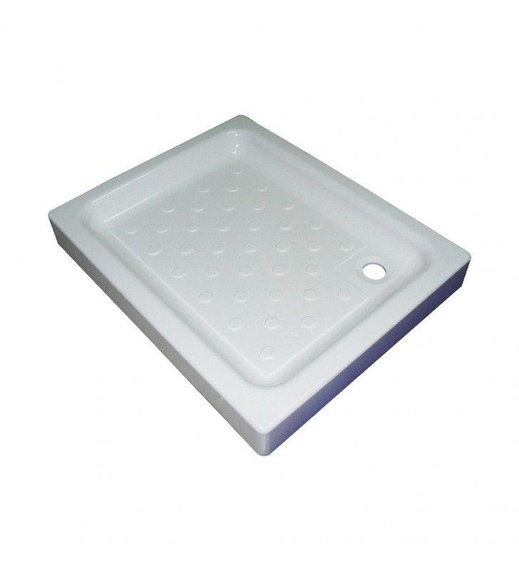 Piatto doccia in acrilico cm 90 x 72 rettangolare CON SIFONE DI SCARICO INCLUSO