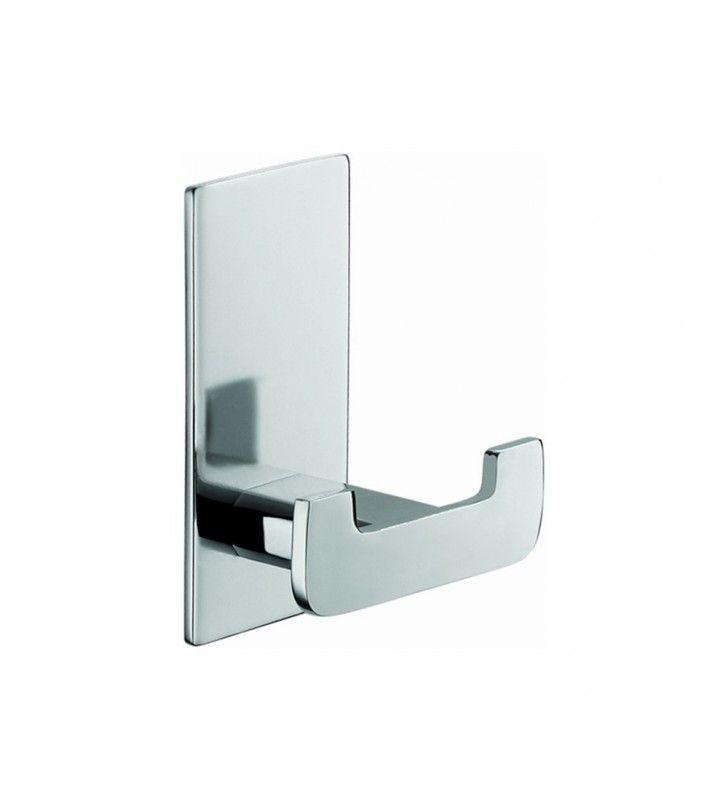 Porta abito serie flat 2 posti - fissaggio ad incollo o con viti Aquasanit A107210CR