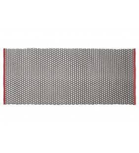 Tappeto quadro bianco e nero con bordino rosso 60x90 Juteco QUAROS60X90