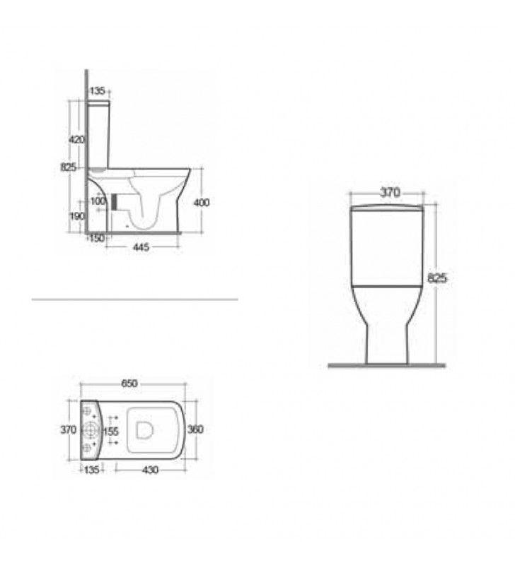 Cassetta per vaso monoblocco serie summit Rak Ceramics SCACER0402CA