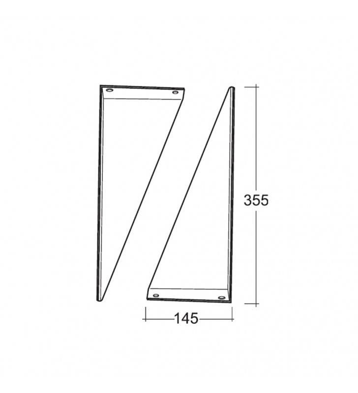 Staffa fissa per lavabi disabili Idrobric SCACER0208SF