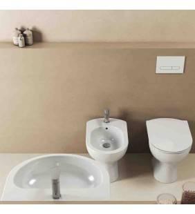 Set sanitari a terra ecostar con lavabo 60 cm Idrobric setEcostar