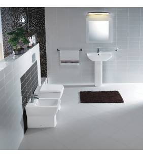 Set sanitari a terra summit con lavabo 60cm con colonna