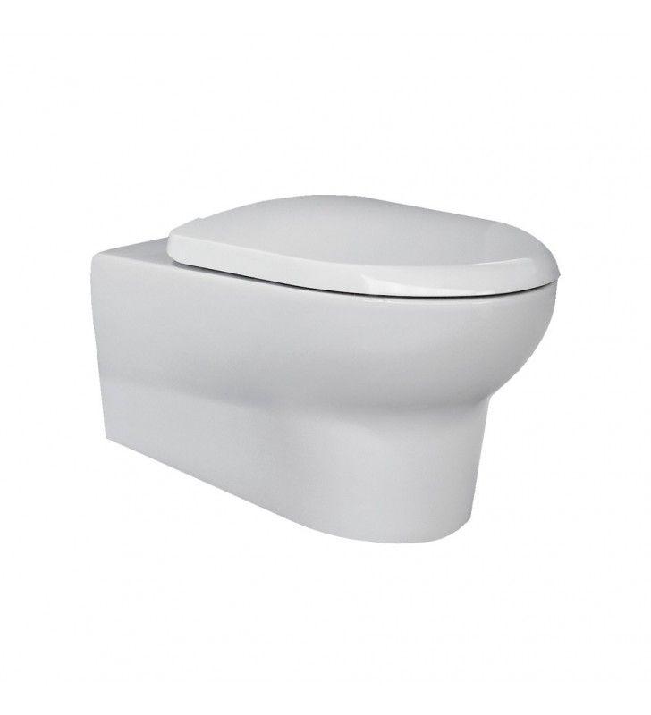 Set sanitari sospesi con lavabo 60 cm con semicolonna serie infinity Rak Ceramics Setinfinitysospeso