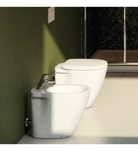 BIDET E VASO WC A TERRA SERIE CONNECT