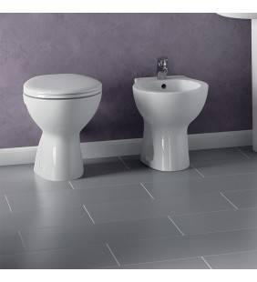 Set wc e bidet a terra quarzo/palio ideal standard