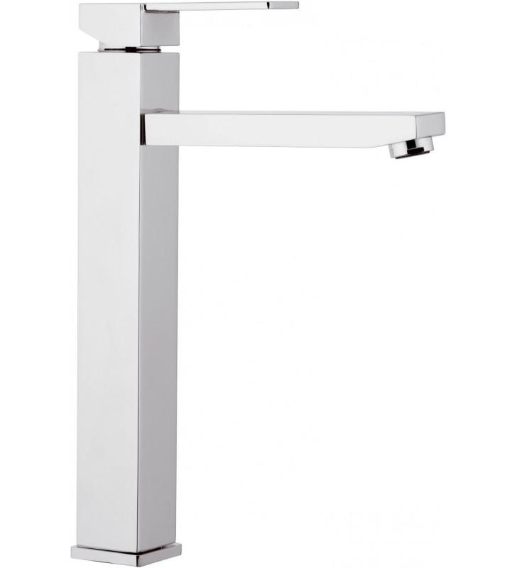 Qubika monocomando lavabo alto cromato senza scarico