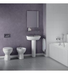 Set sanitari a terra quarzo/palio con lavabo