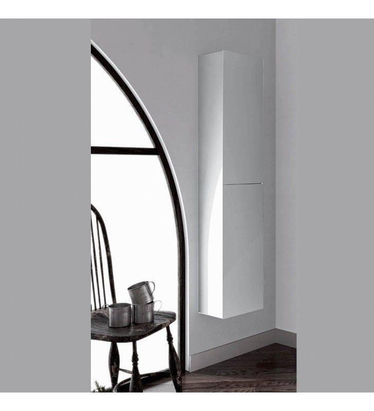 Colonna sospesa look 150h 24p 30l bianco lucido profondita' ridotta 24 cm ROYO SCAMOB0035CO