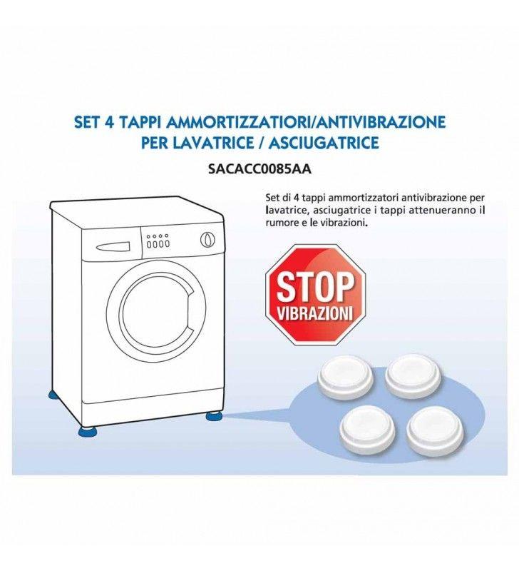 Set 4 tappi ammortizzatori e antivibrazione per lavatrice e asciugatrice Idrobric SACACC0085AA