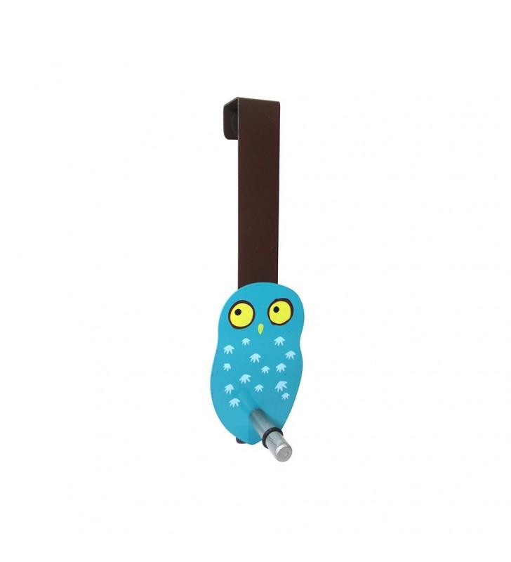 Appendiabiti owl da porta a 1 gancio azzurro - Appendiabiti da porta ...