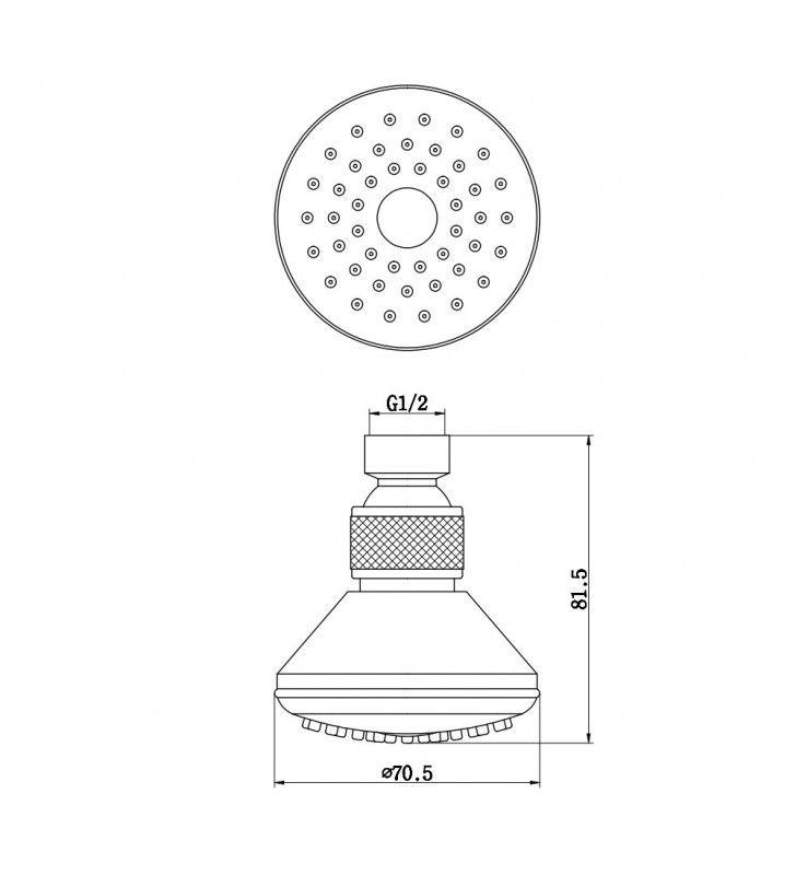 Soffione a snodo anticalcare Idrobric F0188