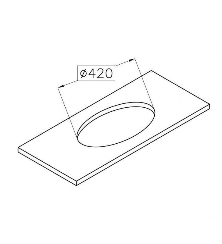 Lavello tondo in acciaio inox da incasso di diametro 380 mm Foster SPA U81025170