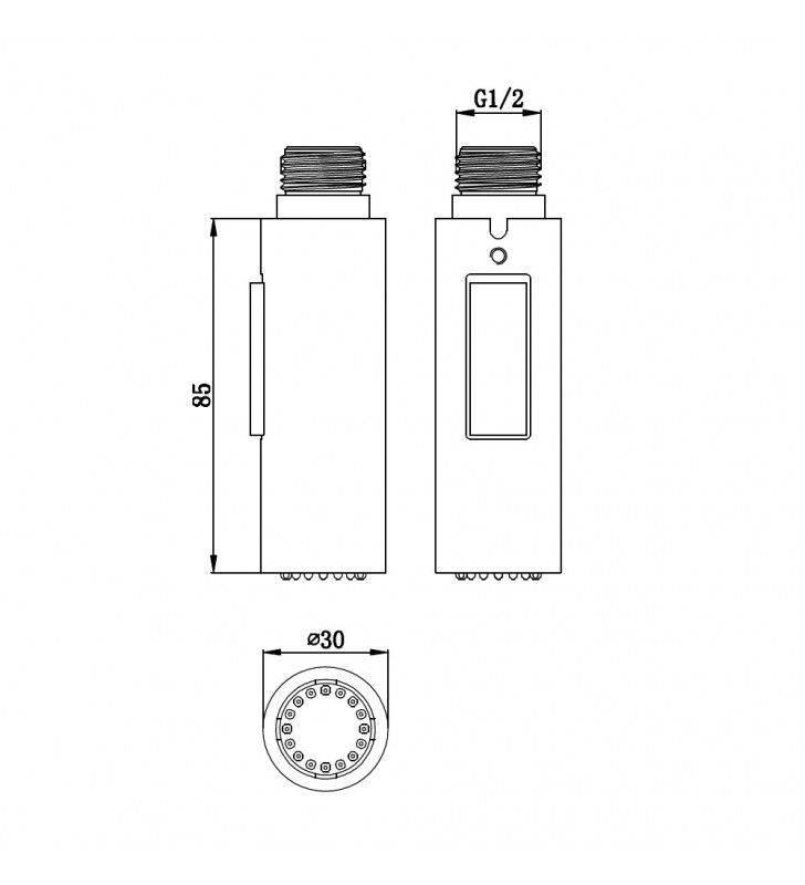 Doccetta di ricambio per miscelatori lavello 2 getti Idrobric BLIDOC0178CR