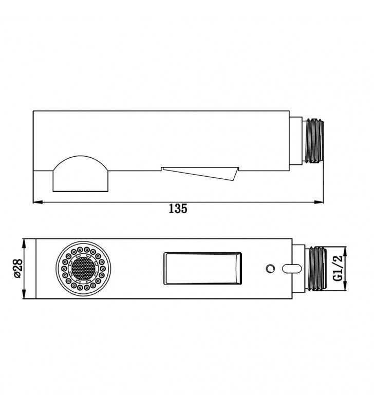 Doccetta universale di ricambio per lavello cucina estraibile Idrobric BLIDOC0180CR
