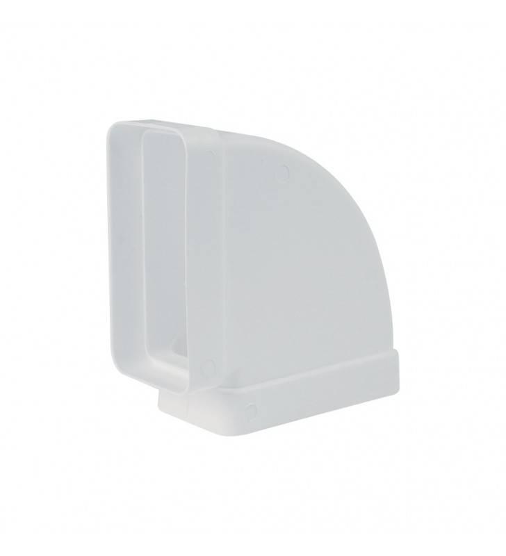 Gomito 90 gradi rettangolare orizzontale 55x100 mm bianco per cappe (MM1) Idrobric SFUASP0077BI