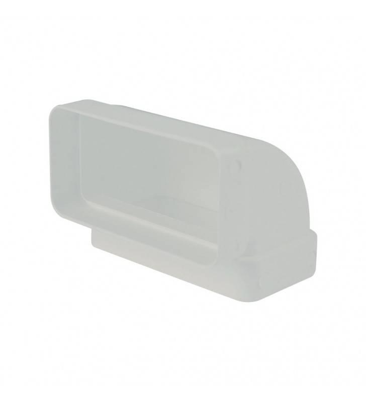 Gomito 90gradi rettangolare vert. 55x110mm bianco per cappe Idrobric SFUASP0076BI