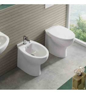 SET VASO WC E BIDET A FILO MURO SERIE DAY BY DAY