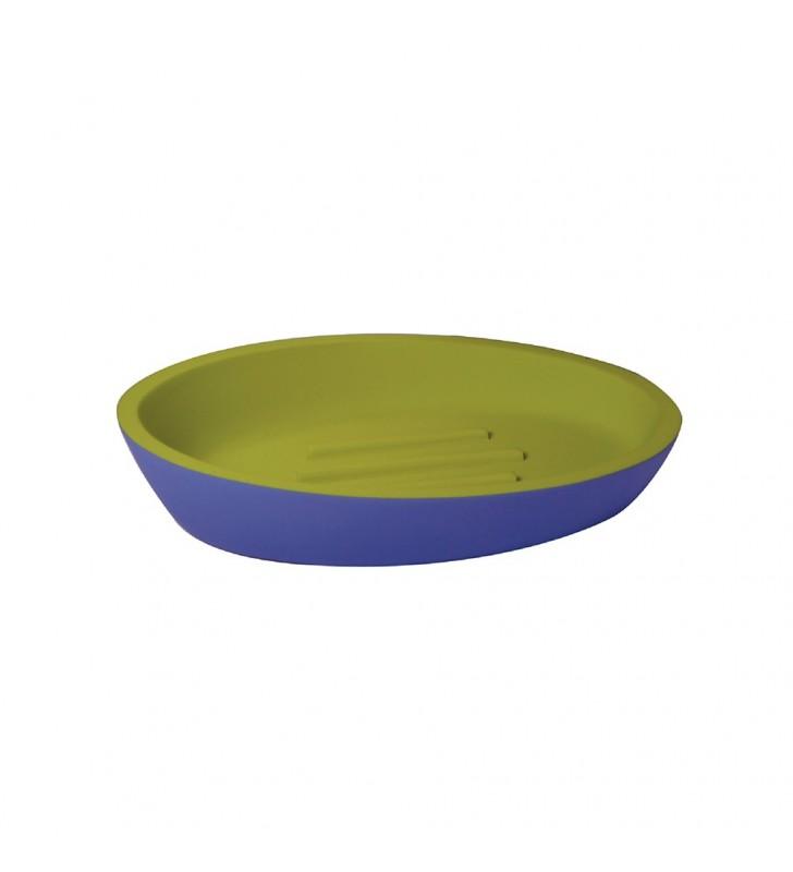 Portasapone viola/verde - serie happy Aquasanit QC5110VA