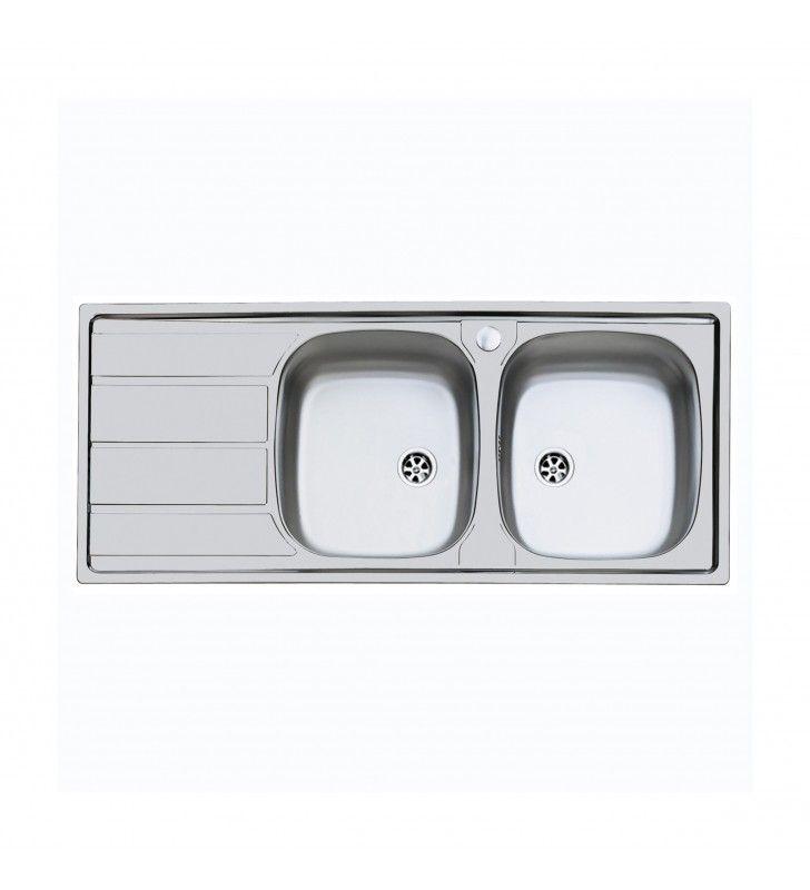 Lavello inox 2v dxsc. 116x50 incasso Foster SPA U81022DX2