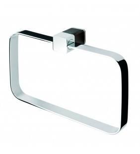 Porta salviette ad anello con dettaglio wenge serie logo Aquasanit Q35160DM