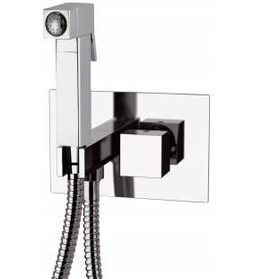 Miscelatore incasso per shut-off con doccetta shut-off, supporto doccia-presa acqua e flessibile. Remer S603